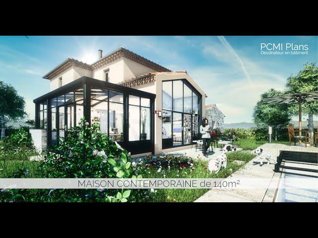 Maison traditionnelle de 140m² | PCMI Plans