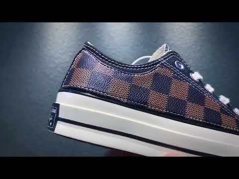 Louis Vuitton x Converse sneakers - YouTube