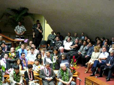 Act 221, Committed, Rep. Lynn Finnegan, Opening Day Hawaii State Legislature, 2009