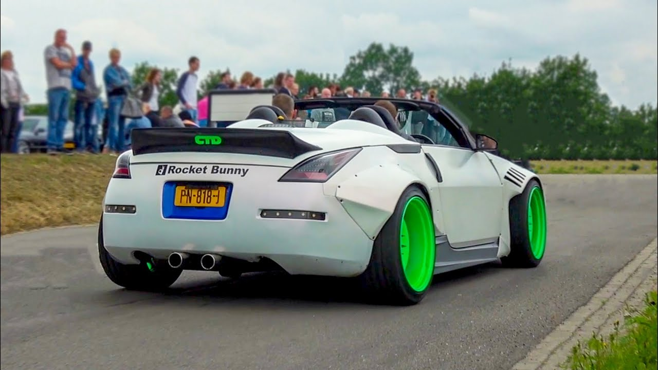 CRAZY LOUD Modified Nissan 350Zs at Cars & Coffee Event!