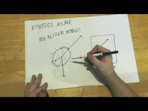 ASMR Physics 1 - Introduction (soft  deep speaking, marker on paper, drawing/writing)