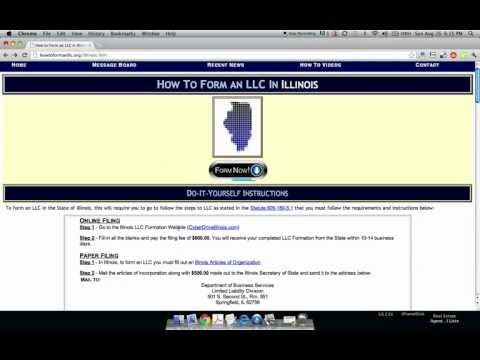 How to Form an LLC in Illinois