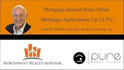Mortgage Interest Rates Down - Mortgage Applications Up 23.5%