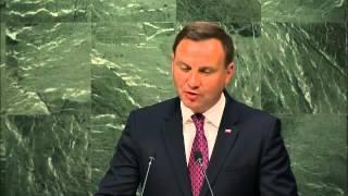 Polish President Andrzej Duda United Nations Speech on September 27, 2015