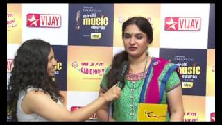 Suganya at the Samsung Galaxy Star Mirchi Music Awards South 2012-13