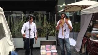 Local Colombian Musicians performing in Bogota, Colombia