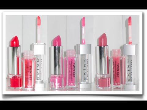 Skinn cosmetics lipstick and gloss review youtube