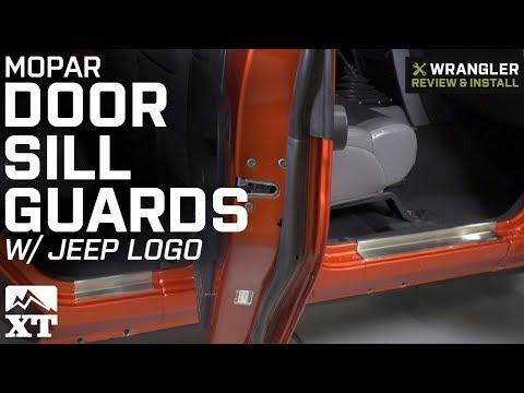 Jeep Wrangler Mopar Door Sill Guards w Jeep Logo (2007-2018 JK 4 Door) Review & Install