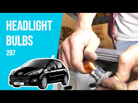 How to replace the headlight bulbs PEUGEOT 207 💡