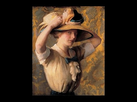 William McGregor PAXTON ( 1869-1941) American painter ✽ Ernesto Cortazar- Nights of Silk and Tears