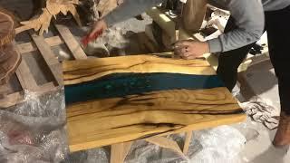 Стол из слэба и эпоксидной смолы Чем защитить поверхность Чем покрыть эпоксидную СМОЛУ