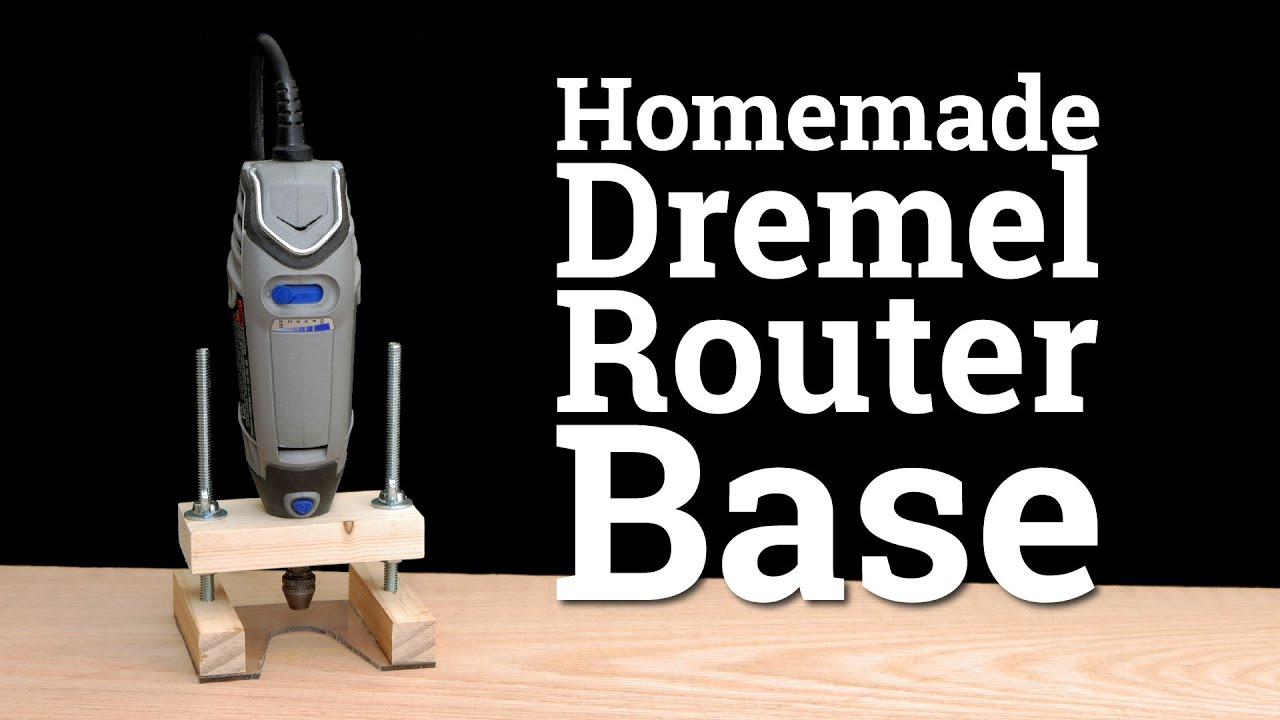 How to make a dremel router base youtube how to make a dremel router base greentooth Images