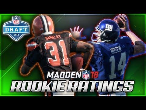 2018 NFL Draft Class in Madden | Overalls For Rosen, Darnold, Barkley + MORE!