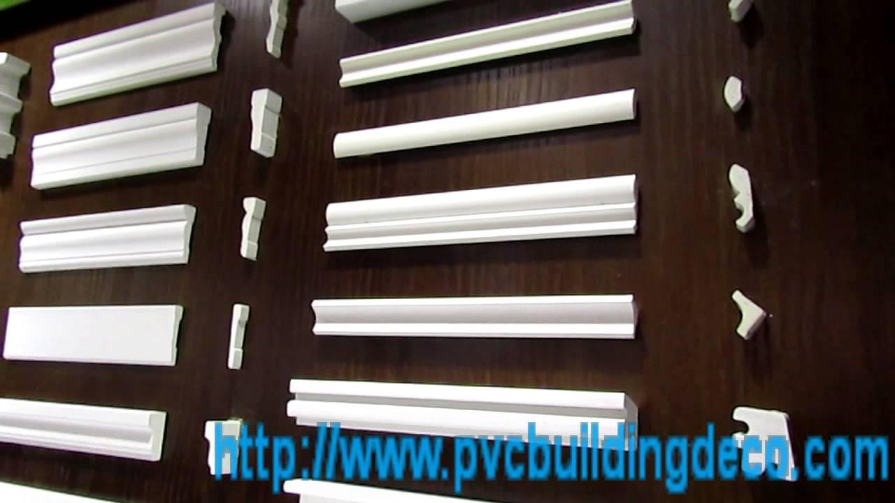 Decorative pvc extrusion foam molding profiles youtube - Exterior decorative foam molding ...