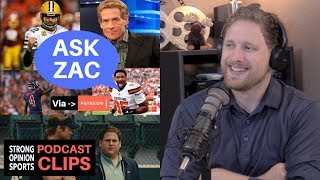 Ask Zac:18 Game Season, Money Ball, NFL Playoffs, Top QBs & Sports Media