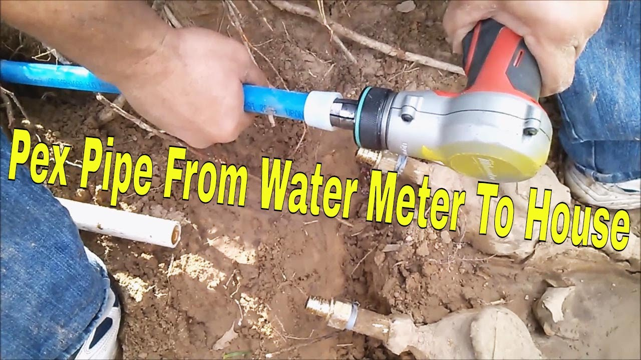 Pex Pipe From Water Meter To House 5 Of 10 Laying Out Lines And Getting Connections You