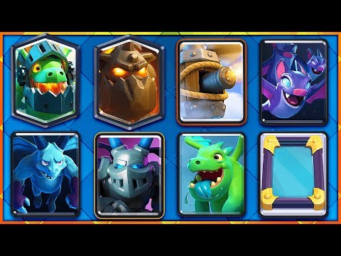 WOW! CLASH ROYALE ALL AIR DECK WORKS!