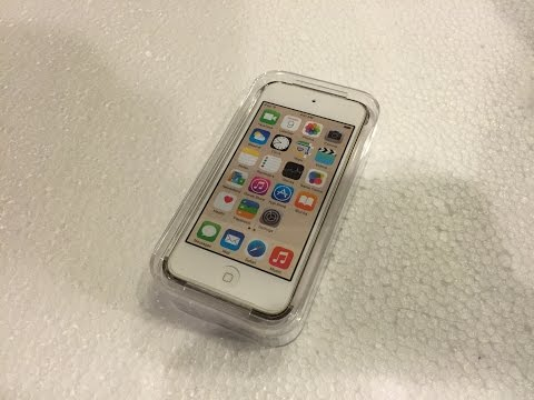 Unboxing the 16GB Gold iPod Touch 6th Generation