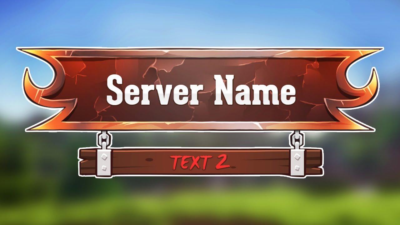 Minecraft Server Logo Template - Volcanic Rock - YouTube