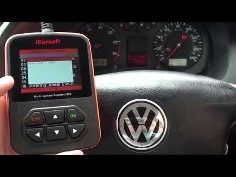 i908 iCarsoft Diagnose & Reset VW Golf Engine Warning Light P0420 O2 Fault
