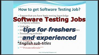 How to get JOB in Software Testing | tips to land QA jobs