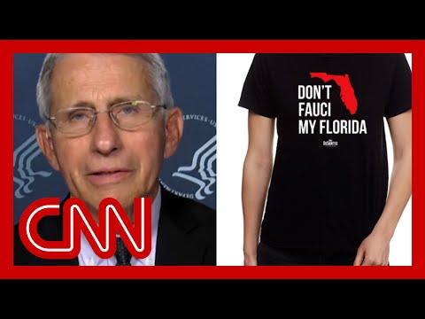 DeSantis PAC selling 'don't Fauci my Florida' merch. Hear Fauci's reaction
