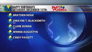 Birthdays and anniversaries on Montana this Morning 12-14-18