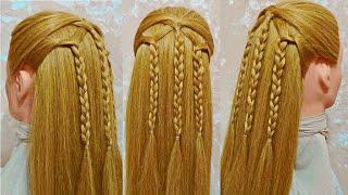 Красивые косички для девочки. Плетение пошагово. Прическа в школу.