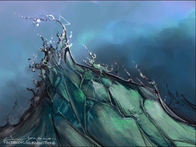 Cómo dibujar el mar en Photoshop (Timelapse)