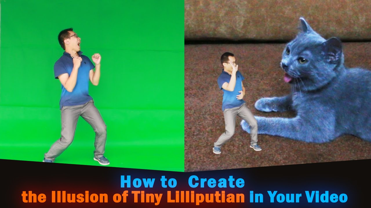 How To Make People Small Create The Illusion Of Tiny Lilliputian In Your Video Youtube