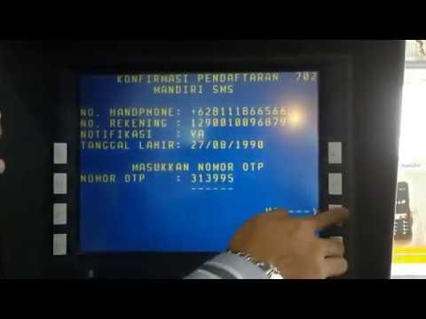 Cara daftar mobile banking Bank Mandiri di ATM - YouTube