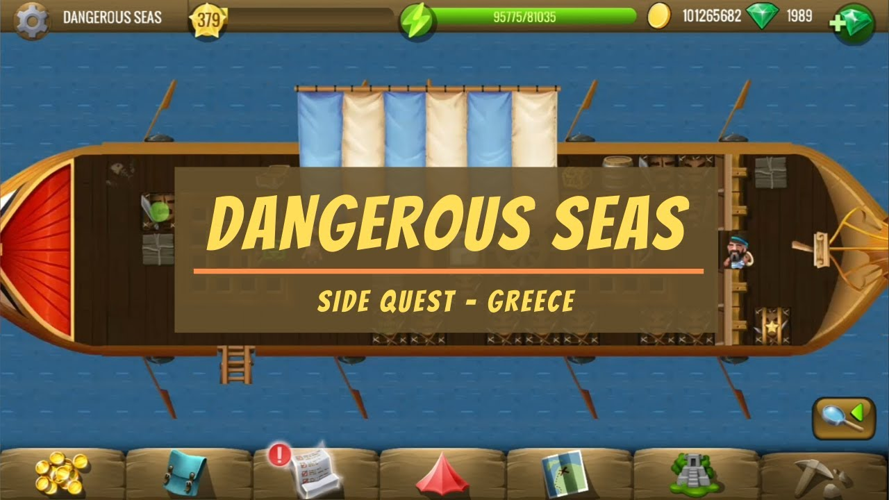 Diggys Adventure Christmas 2020 13 New Quests Dangerous Seas   Greece Side Quest   Diggy's Adventure   YouTube