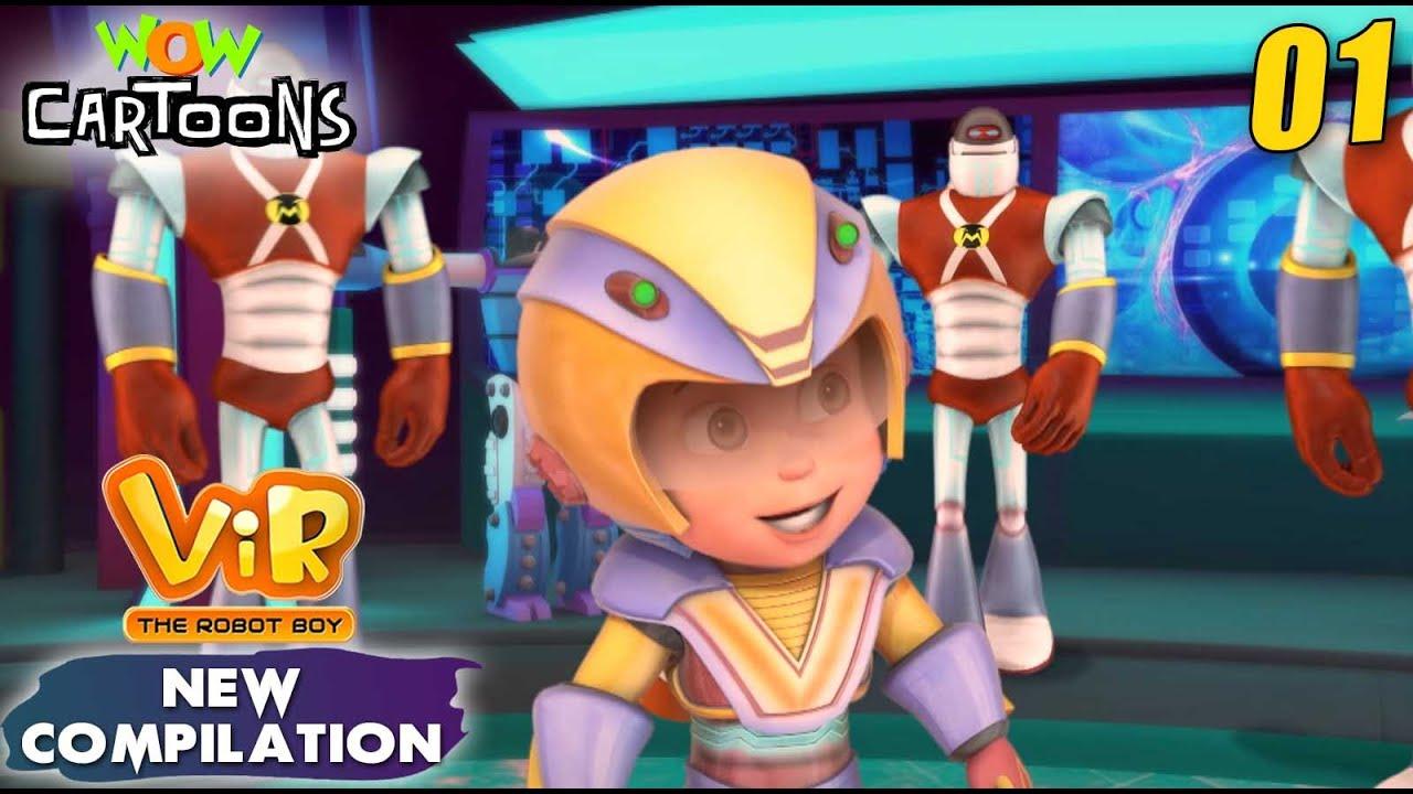 Vir the robot boy | Action Cartoon Video | New Compilation - 01| Kids Cartoons | Wow Cartoons
