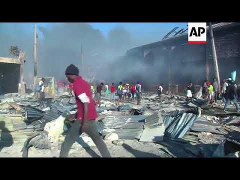 Fire destroys market in Port-au-Prince