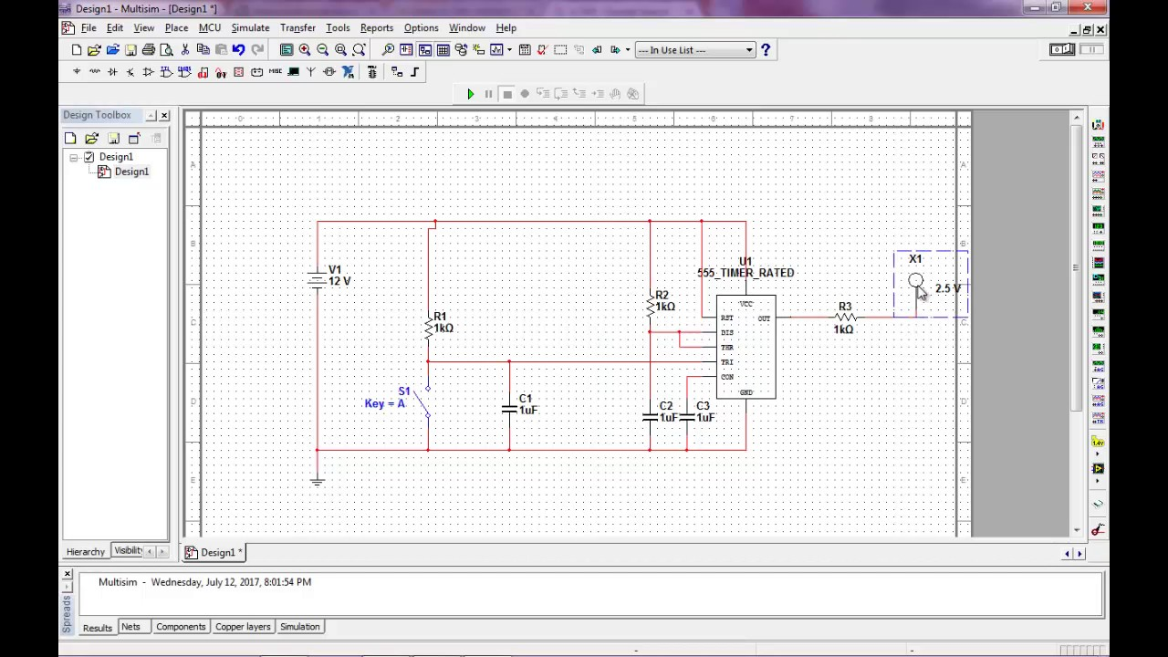 Monostable Multivibrator Ic 555 Menggunakan Multisim Youtube Operation Of Mode Timer