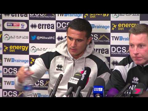 Watch Tim Cahill's first press conference