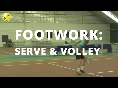 Tennis Tip: Serve And Volley Footwork In Tennis