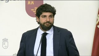 """López Miras critica comportamientos """"irresponsables"""""""