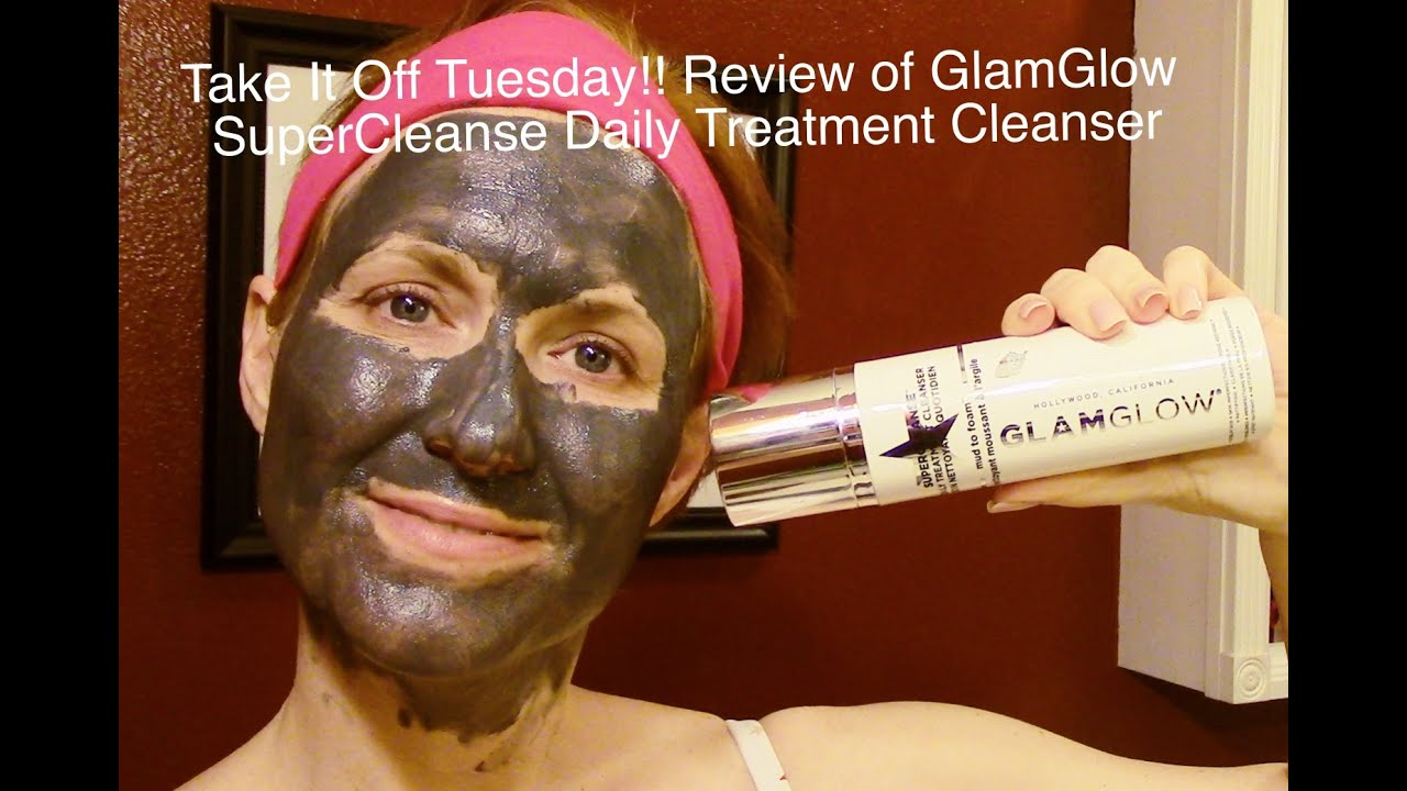 Take It Off Tuesday!! Demo/Review of GlamGlow SuperCleanse ...