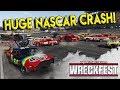 HUGE NASCAR CRASH TAKES OUT WHOLE FIELD! - Next Car Game: Wreckfest Gameplay - Nascar Big One