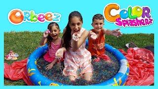 أطفال يلعبون تحدي ORBEEZ Heidi و Zidane