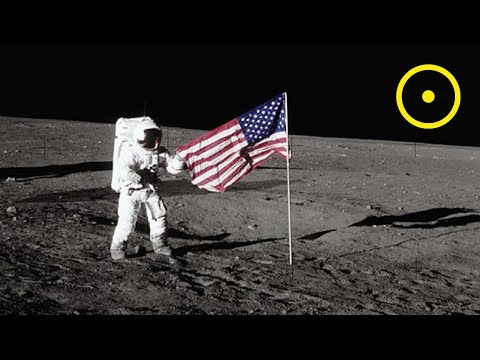 Placing The American Flag On The Moon