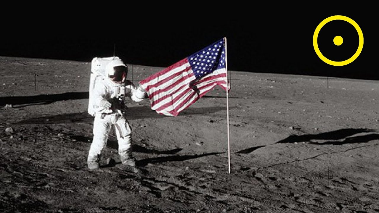 Placing The American Flag On The Moon - YouTube