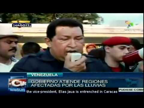 President Chavez Visits Regions Affected by the Rains