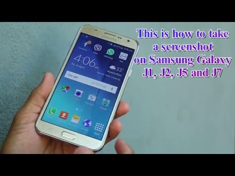 Trick to Take Screenshot in Samsung Galaxy J1, J2, J3,J5,J7