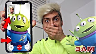 DO NOT FACETIME THE ALIENS FROM TOY STORY AT 3AM!! *OMG HE CAME TO MY HOUSE*