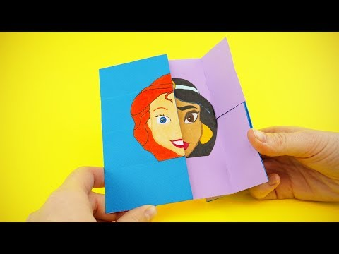 Disney Princess DIY Neverending Card with Cinderella, Belle, Jasmine and Ariel