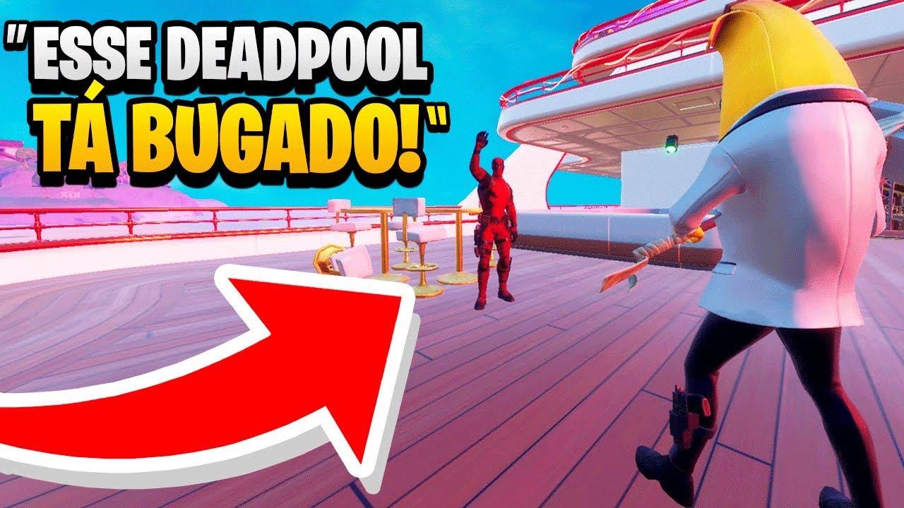 Me Passei Pelo Deadpool do Iate no Fortnite e Ele Acreditou! (Fortnite Experimento Social)