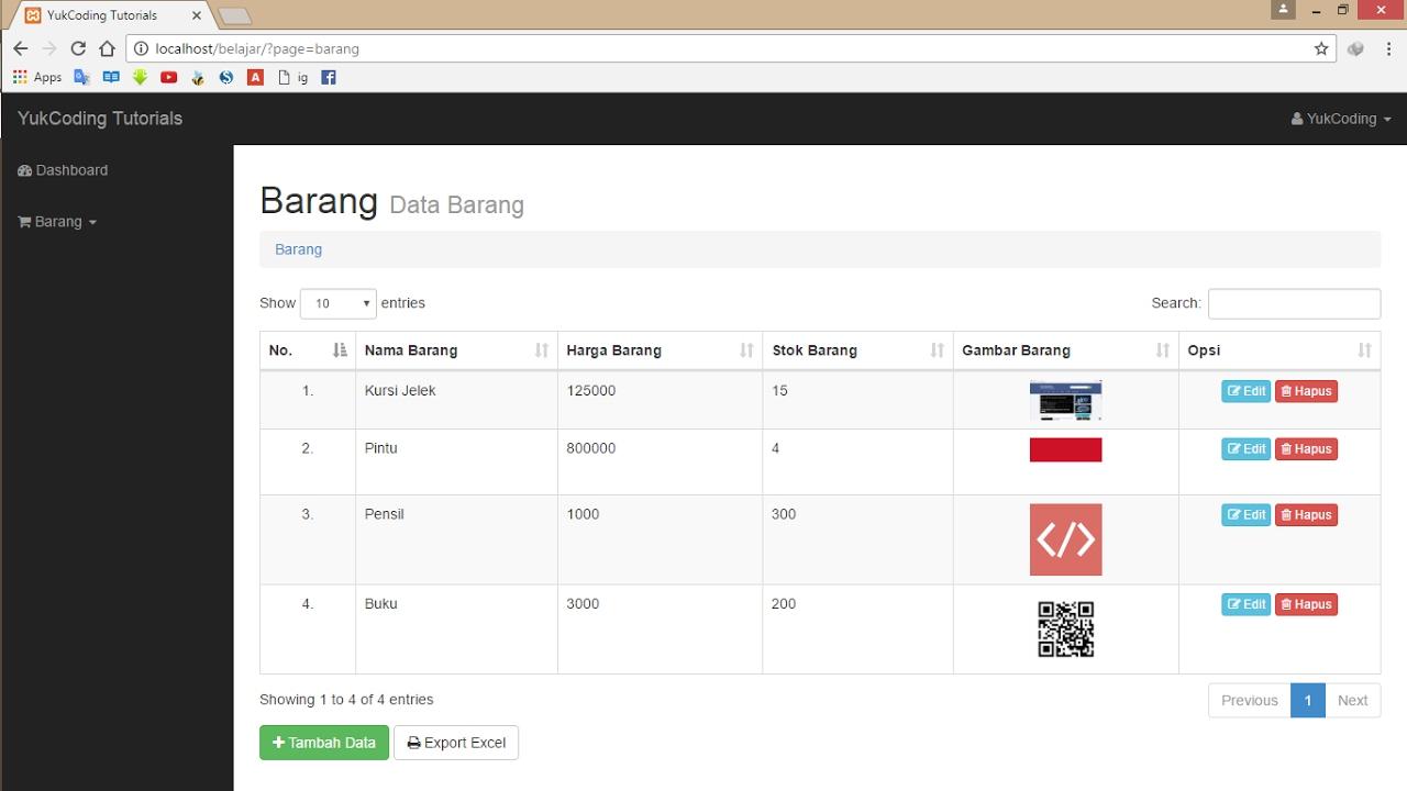 Membuat Searching Pagination Sorting Dengan Datatable Client Side 6 Youtube