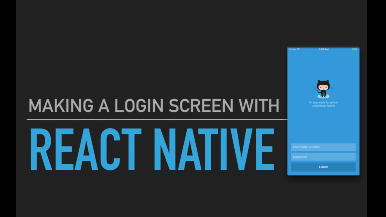 React Native Tutorial #2 - Making a login screen